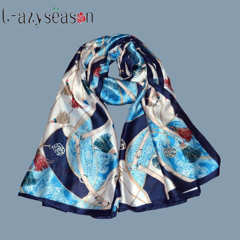 New Fashion Summer hijab silk  Scarf women Print Shawls All-match bandana women luxury brand for foulard femmeLong Scarves