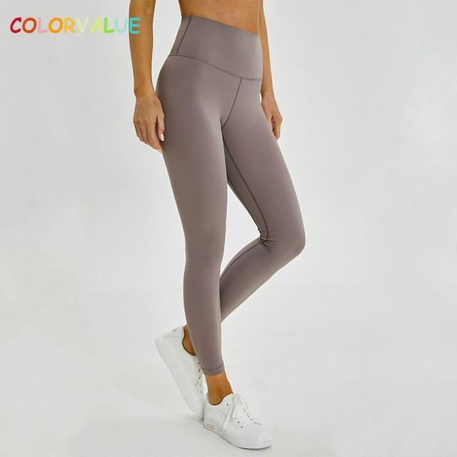 Colorvalue קלאסי 2.0 גרסאות רך עירום-מרגיש ספורטיבי כושר חותלות נשים נמתח גבוהה מותן כושר ספורט גרביונים יוגה מכנסיים