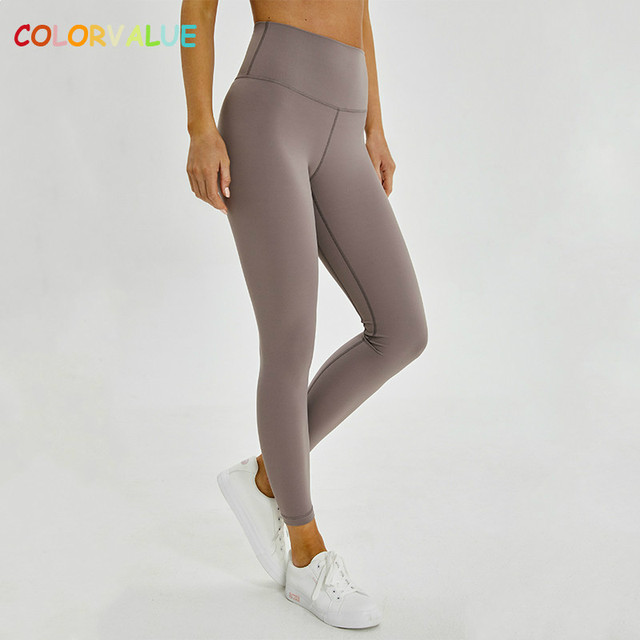 98cfe0248d4fb Colorvalue Classical 2.0Versions Soft Naked-Feel Athletic Fitness Leggings  Women Stretchy High Waist Gym Sport Tights Yoga Pants