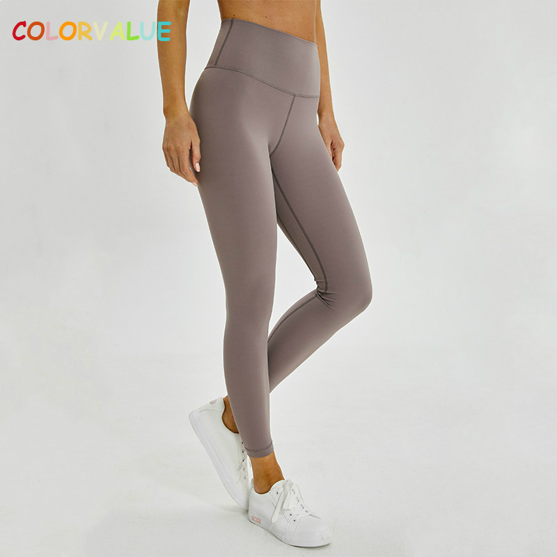 Colorvalue Classical 2.0Versions Soft Naked Feel Athletic Fitness Leggings Women Stretchy High Waist Gym Sport Tights Yoga Pants