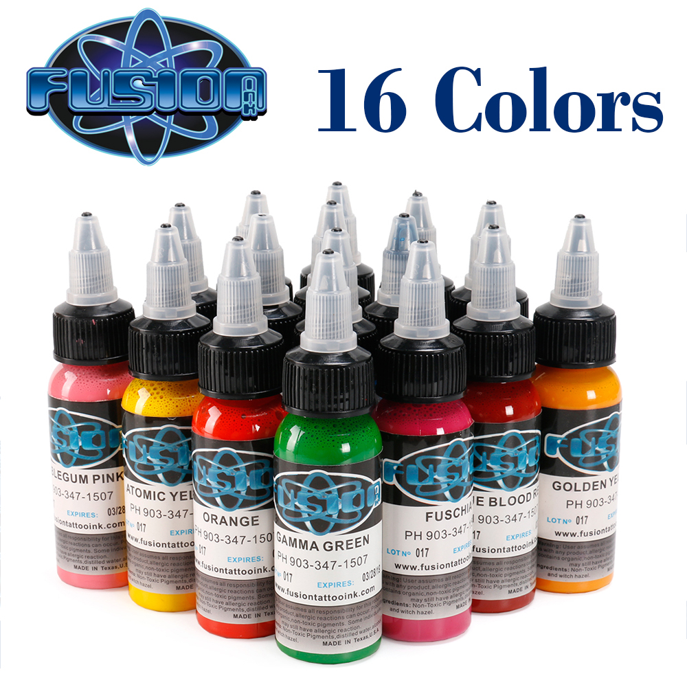 16 Colors/Pcs Tattoo Pigment Set Kits Body Art Tattoo 1oz Professional Beauty Permanent Tattoo Paints Supplies Tattoo Inks16 Colors/Pcs Tattoo Pigment Set Kits Body Art Tattoo 1oz Professional Beauty Permanent Tattoo Paints Supplies Tattoo Inks