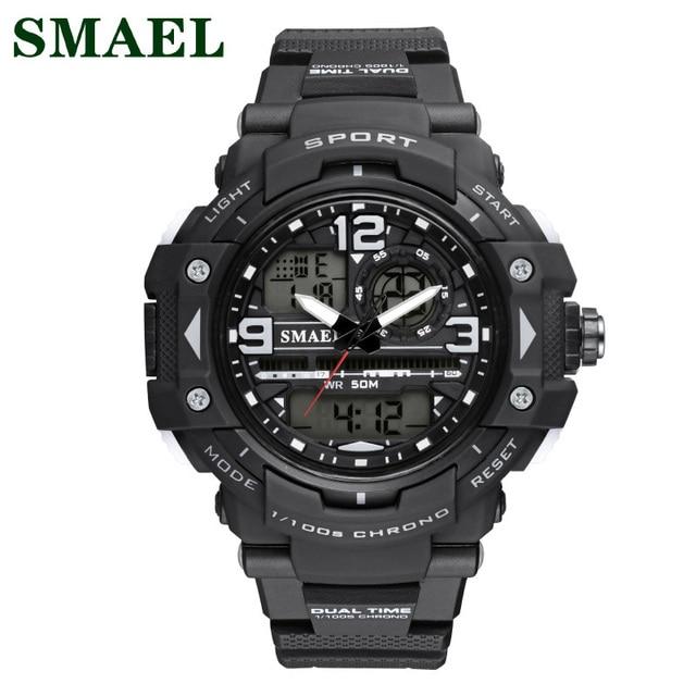 2017 Fashion Sport Shock Watches Teens LCD Digital Watch Men Waterproof Military Outdoor Sports Male Clock relogio