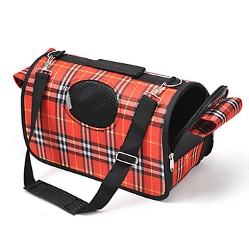 Breathable Grid Small Medium Dog Cat Traveling Bag Portable Flight Case Puppy Soft Tote Crate Carrier Bag Pet Travel Bags 1