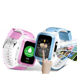 Gps трекер дети Безопасный Смарт-часы анти потерянный монитор SOS Вызов детская смарт-камера телефон 1,44 дюймов экран часы подарки на день