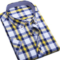Liquidación de los hombres corto manga de la camisa masculina camisa a cuadros de impresión ocasional camisa masculina de los hombres de la marca de clothing