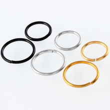 1Pc  Captive Ring Surgical Steel  Bead  Circular Piercing BCR Nose Ring Septum Nose Hoops Segment Rings Body Jewelry