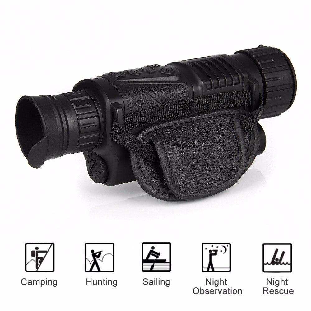 Suntekcam 5X40 Digital Infrared Night Vision Telescope Goggle Monocular 200m Range Video DVR Imagers For Hunting Camera Device