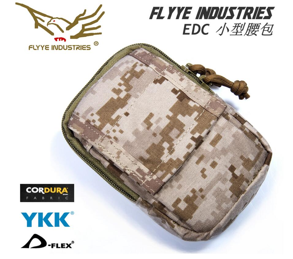 In stock FLYYE  genuine MOLLE waterproof nylon EDC Small Bag  Military camping hiking modular combat CORDURA FY-PH-C031 box clutch purse