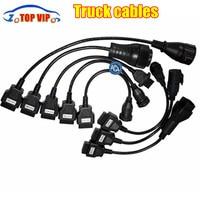 5 lot /set Truck Cables CDP Pro OBD2 OBDII Trucks Diagnostic tool connect cable 8 PCS Trucks Cables For TCS CDP Plus