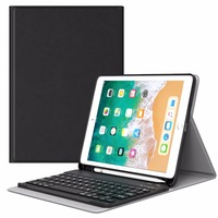 MoKo Keyboard Case for iPad 9.7 2018 with Apple Pencil Holder Wireless Keyboard Cover Case for Apple All New iPad 9.7 Inch 2018