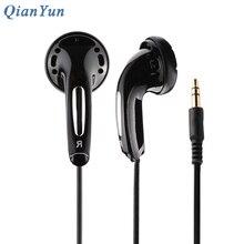 Original QianYun Qian25 Earphone Flat Head Plug Earplugs Monk Earphones With Microphone HIFI Headsets For Xiaomi iPhone 5s/6/6s