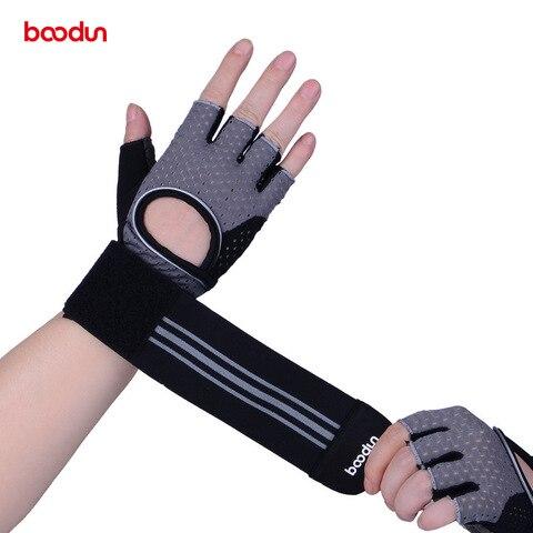 Luvas de Fitness Exercício ao ar Metade do Dedo Luvas de Levantamento de Peso Boodun Livre Esportes Homens Mulheres Treino Luvas Tático Gym