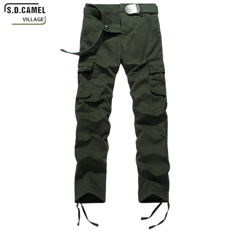Brand Classic trousers Mens Military Cargo Pants Multi-pockets Baggy Men Casual Trousers Overalls Army Pants Plus Size 29-40