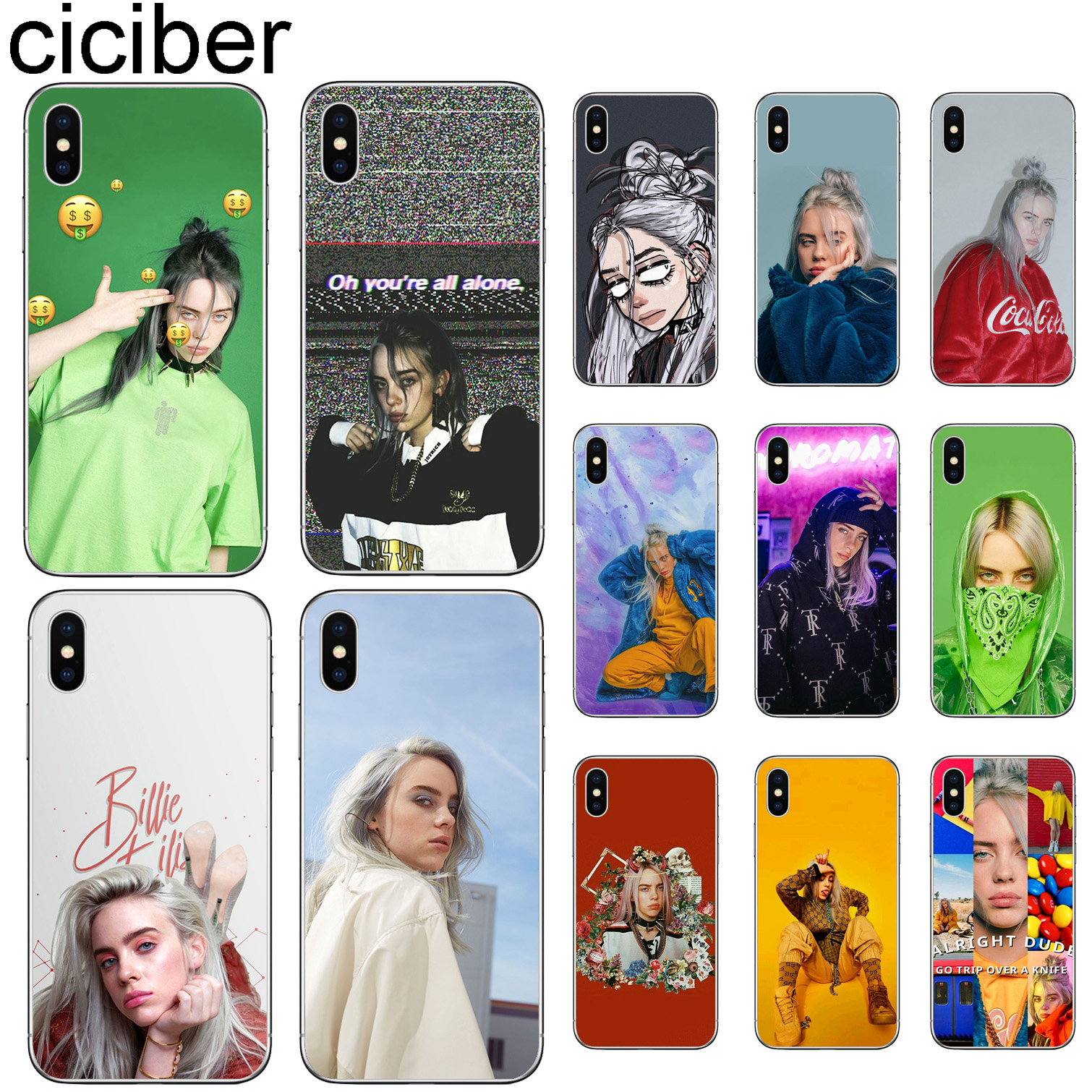 ciciber Billie Eilish Phone Cases For Iphone 11 Pro XR X XS MAX Case for iphone 7 8 6 6S Plus 5S SE Soft TPU Cover Funda Coque