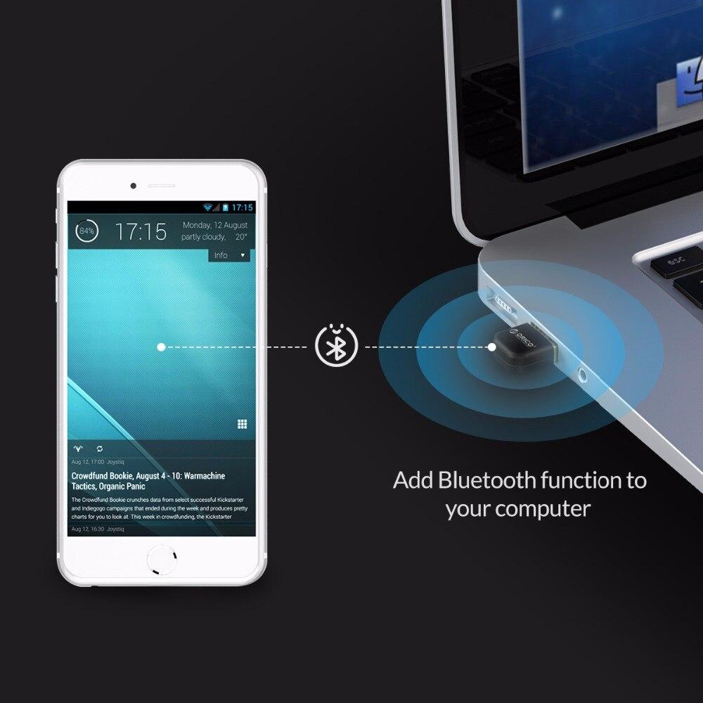 Bluetooth4.0 адаптер USB Dongle приемник передатчик для ПК для Windows Vista совместим с Bluetooth 2,1/2,0/3,0 (ORICO BTA-403)