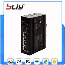 2GX4GT 6 puertos de conmutador de red 2 conector SFP fibra a 4 rj45 switch industrial