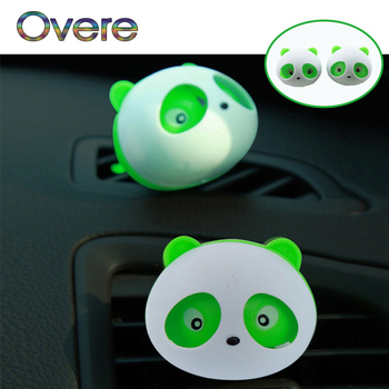 Overe 1Pair Car Air Outlet Perfume Panda styling For Renault Megane 3 Duster Captur Chevrolet Cruze Aveo Captiva image