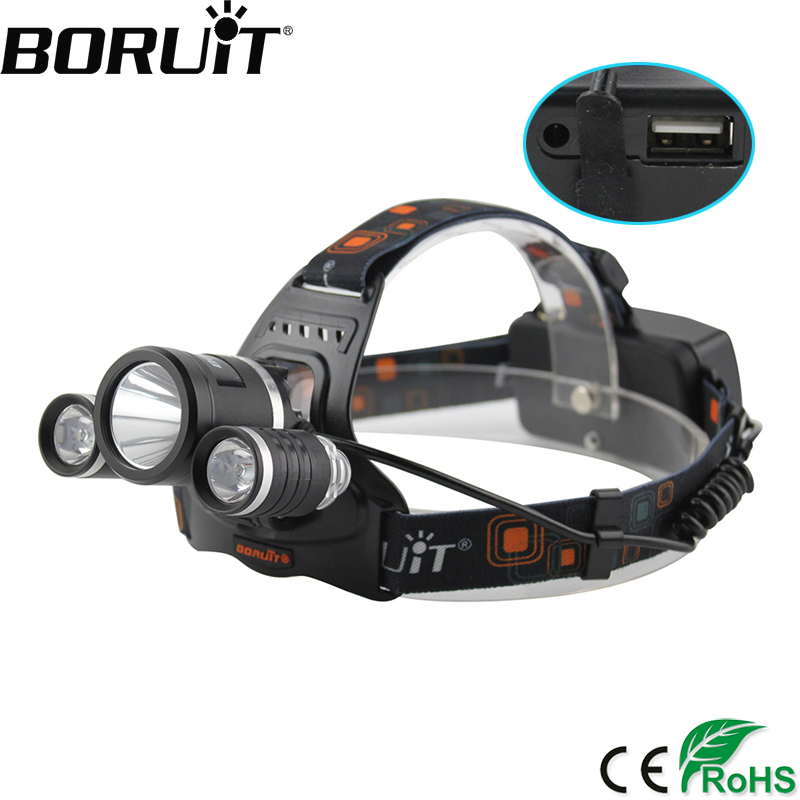 BORUiT 5000LM XM-L2 LED Headlamp 4-Mode Rechargeable Headlight Power Bank Head Torch Camping Hunting Lantern 18650 Battery сотовый телефон apple iphone 8 plus 256gb silver mq8q2ru a