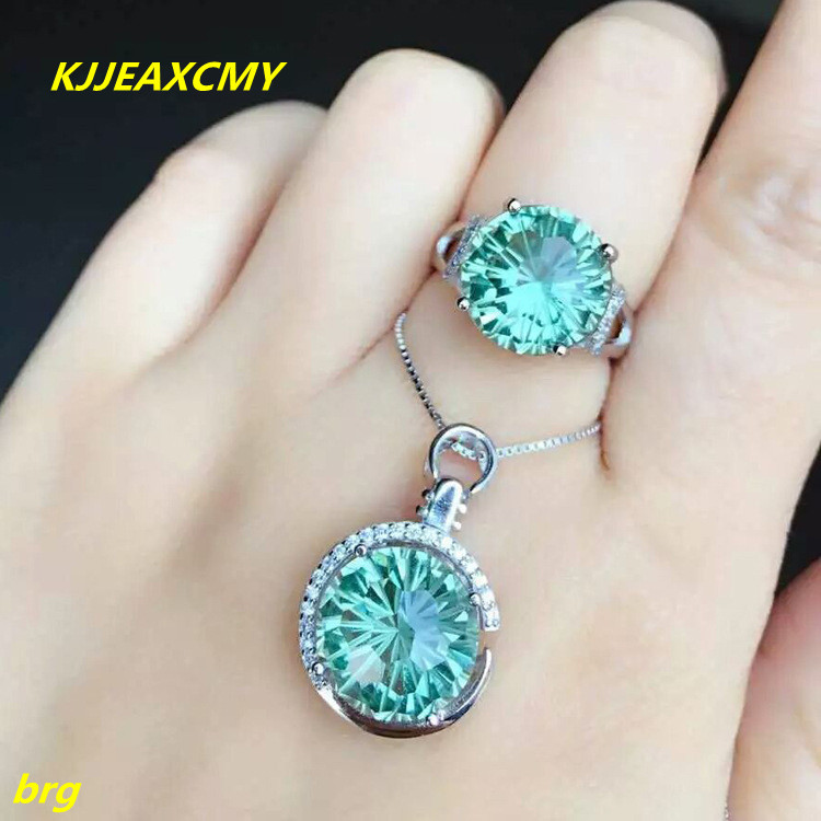 KJJEAXCMY Fine jewelry 925 silver inlaid crystal set ladies crystal European and American style