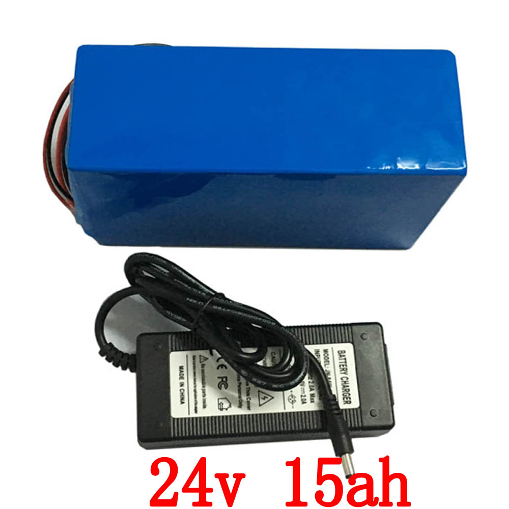 Ebike Battery 24v 15ah 350w Lithium Scooter Battery With 29.4v 2a Charger,15a Bms 24v Electric Bike Battery Pack Free Shipping e bike battery 24v 10ah 350w lithium electric bike scooter battery 24v with 29 4v 2a charger 15a bms free shipping 24v battery