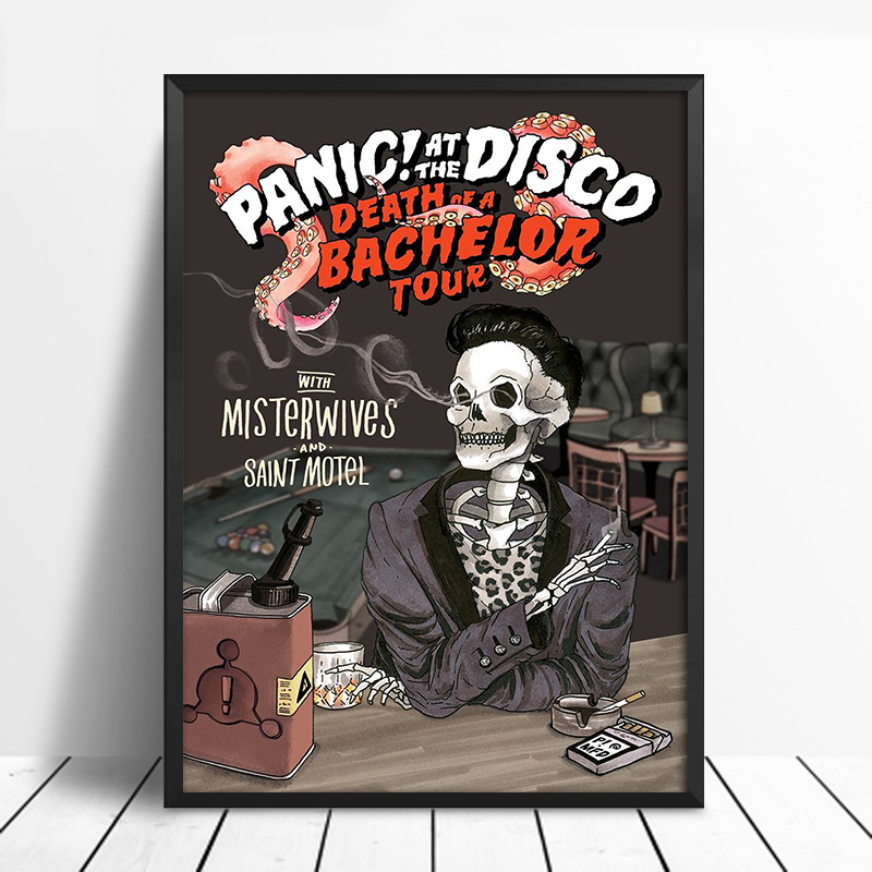 Posters And Prints Panic At The Disco Poster-Death Of A Bachelor Tour Admat wall painting canvas Art Living Room Decor Unframed
