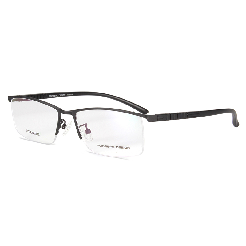 Handoer Business Optical Glasses Frame Half Rim for Men Eyewear Spectacles Prescription P9864