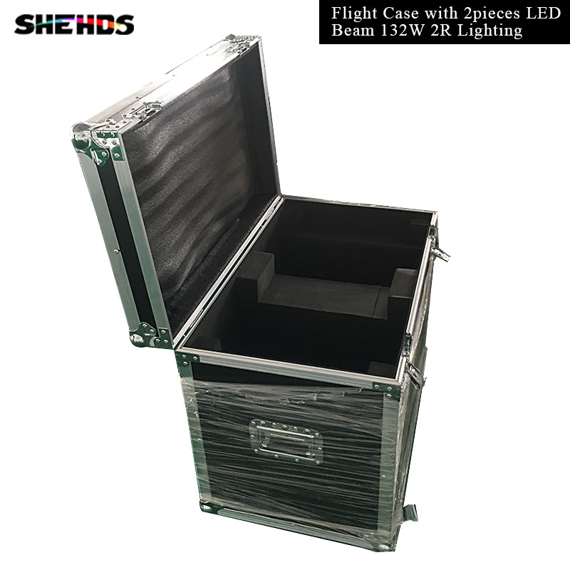 Flight Case with 2pcs/lot Fast ShippingLED Beam 132W 2R Lighting for Mobile DJ, Party, nightclub 16channels stage lighting 6pcs lot white color 132w sharpy osram 2r beam moving head dj lighting dmx 512 stage light for party