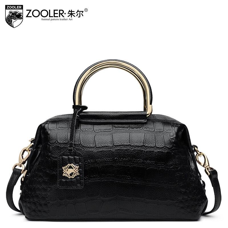Women Genuine Leather handbag Winter new 2017 ladies shoulder bag messenger bag luxury handbag women bag designer ZOOLER#BC-8152