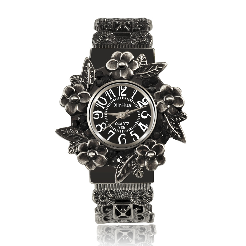 Famosa marca XINHUA Mujeres Reloj de Acero Inoxidable Dial Relojes de - Relojes para mujeres