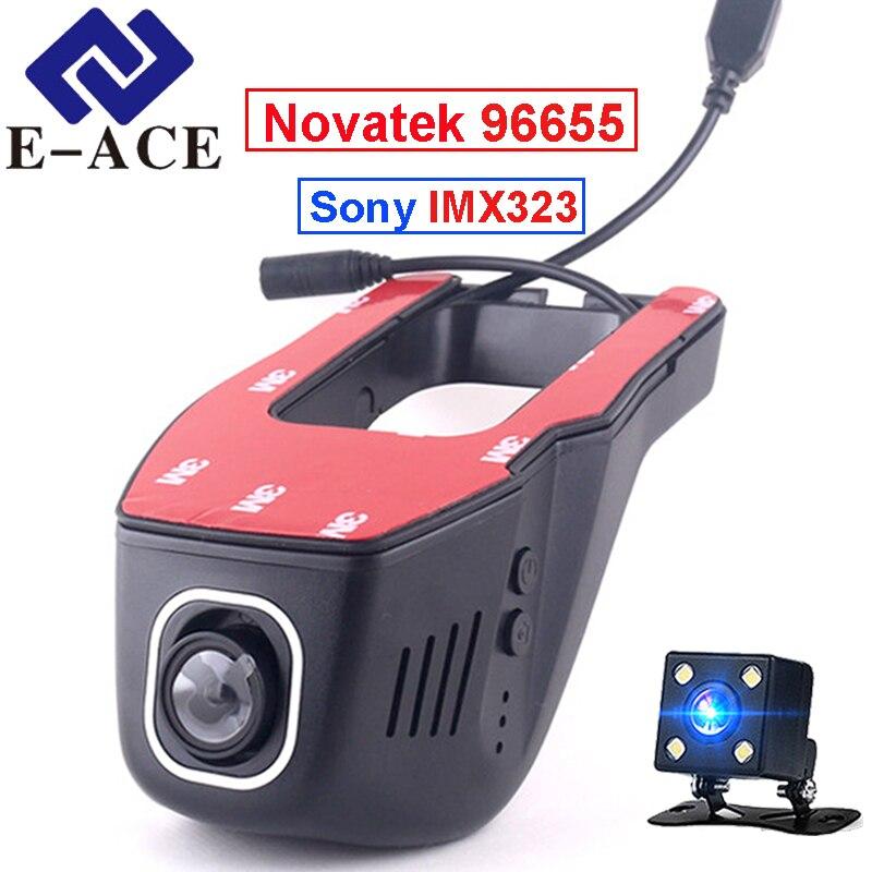 E-ACE oculta Mini Wifi cámara de Video Recorder coche registrador Dashcam Novatek 96655 SONY IMX 323 noche Full HD 1080 P coche Dvr