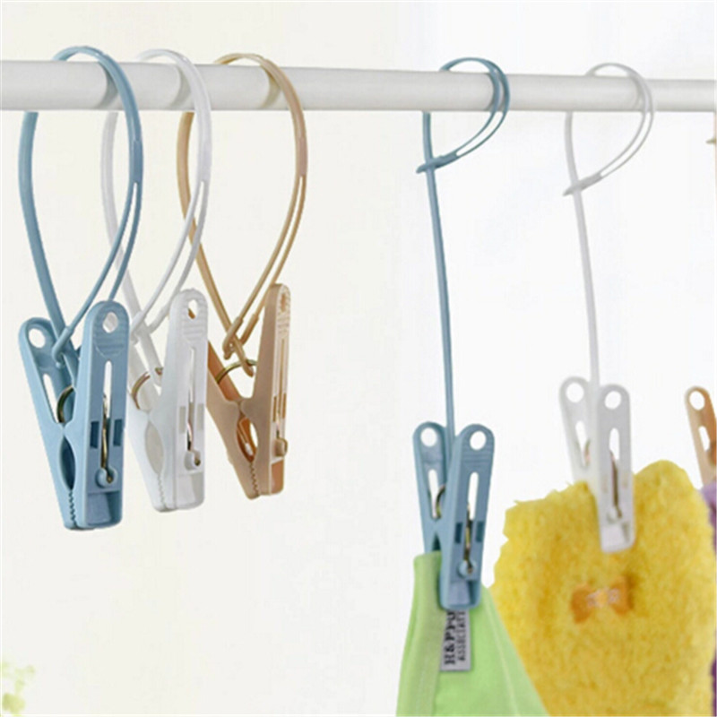 Mixed color plastic Clothes Pegs storage Clip Portable Home Hangers for clothes hanger drying rack Towel clothes pins