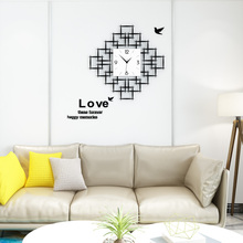 Fashion 3D Geometric Acrylic Large Wall Clock Modern Design MEISD Ultra-quiet Quartz Hanging Clocks Living Room Free Shipping creative geometric flower black wall clock modern design with wall stickers 3d quartz hanging clocks free shipping home decor
