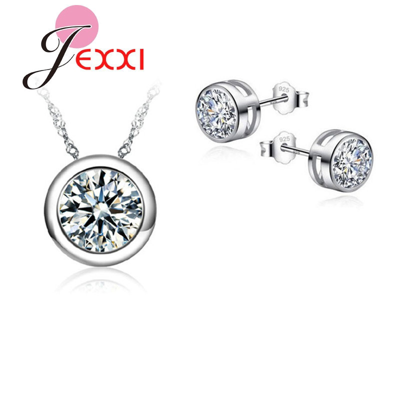 Jewelry-Sets Stud-Earrings-Set Necklace Bridal-Pendant Women Accessories Wedding Luxury