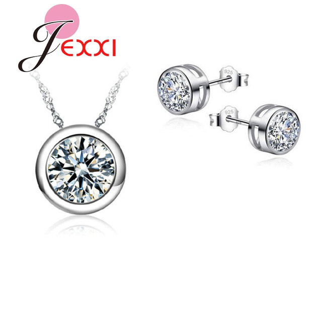 JEXXI Top Quality Round Luxury Jewelry Sets For Women Accessories Wedding Bridal
