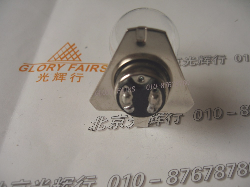 Compatible for Zeiss Dr.Fischer 58Z 6V 30W 380158,390158,OPMI 1,6V30W BA20D microscope lamp,Triangular flange base bulb