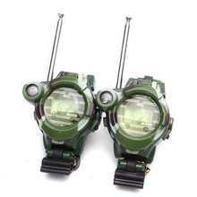 Excellent Quality New Brand 2 PCS Hot Selling Way Radio Walkie Talkie Kids Child Spy Wrist Watch Interphone Gadget Toy #160717