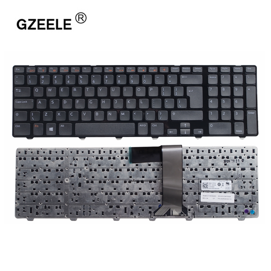 GZEELE UK layout English keyboard For Dell Inspiron 17R N7110 17R 7110 XPS 17 L702X Vostro 3750 V3750 laptop keyboard BLACK NEW