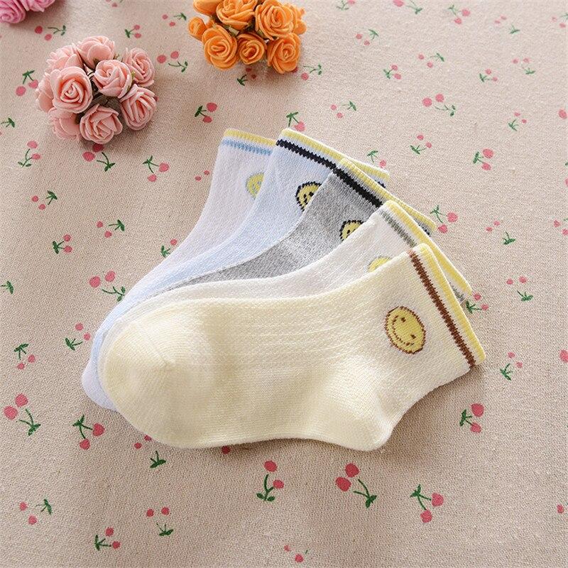0-12Years Children Socks Summer Mesh Breathable Baby Boys Sport Sock 5pairs/Lot Stripe Cotton Girls Ankle Hose Anklets Kids Sox 16