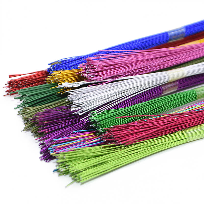 Image 4 - 25Pcs 80cm Long Stocking Flower Iron Wire Used For DIY Nylon Flower Making Floral Wire Ronde Flower Material Accessory 0.46mm-in Artificial & Dried Flowers from Home & Garden