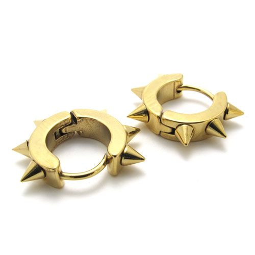 Fashion Men S Earrings 21745 Anium Gold Stud Earring