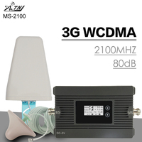 500 sqm ATNJ 3G WCDMA 2100MHz Cellular Signal Ampifier 3G UMTS Power 80dB Gain Mobile Phone Booster Signal Repeater Antenna Set
