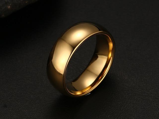 Фото мужские кольца из вольфрама золотого цвета размеры 6 7 8 9 10 цена