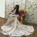 Dubai Scoop Lace Wedding Dress Appliques Mermaid Vestido De Noiva Custom Made Long Sleeve Wedding Dresses 2017 Robe De Mariage