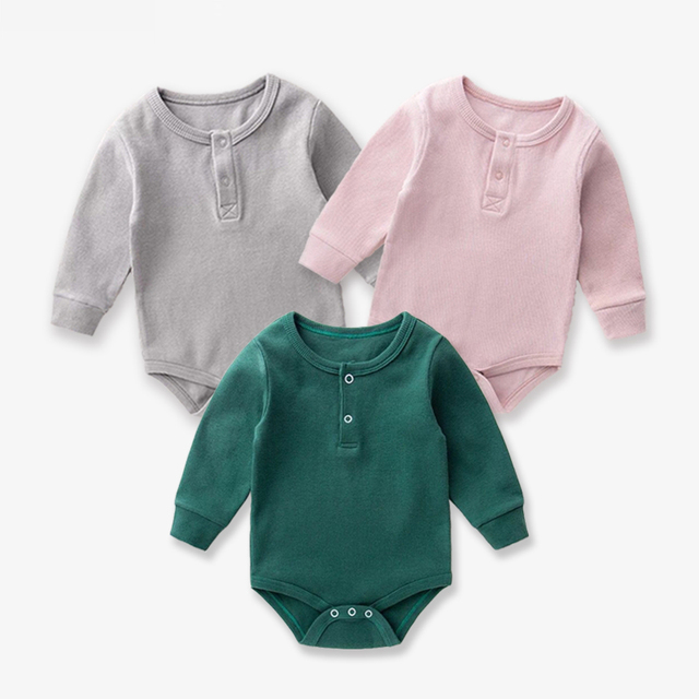 Baby Girl Romper 0-2Y Fashion Spring Newborn Baby Clothes For Girls Long Sleeve Kids Boys Jumpsuit Baby Girls Outfits Clothes