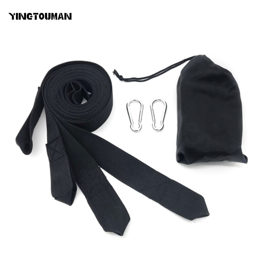 Camp Sleeping Gear Efficient Yingtouman 2pcs/lot Hammock Hanging Belt Tree Strap Nylon Rope With Buckles Hiking Hammock Belt Tools Sleeping Bag Accessory Good For Antipyretic And Throat Soother