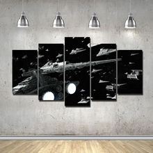 Artistic Frame originality Star Wars Imperial Star Destroyer print poster canvas in 5 pieces 20x35cmx2,20x45cmx2,20x55cm