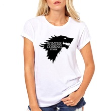 Fashion Game of Thrones women tshirt Winter is coming stark wolf funny t-shirt camiseta mujer casual tees femme top harajuku tee apl® athletic propulsion labs футболка