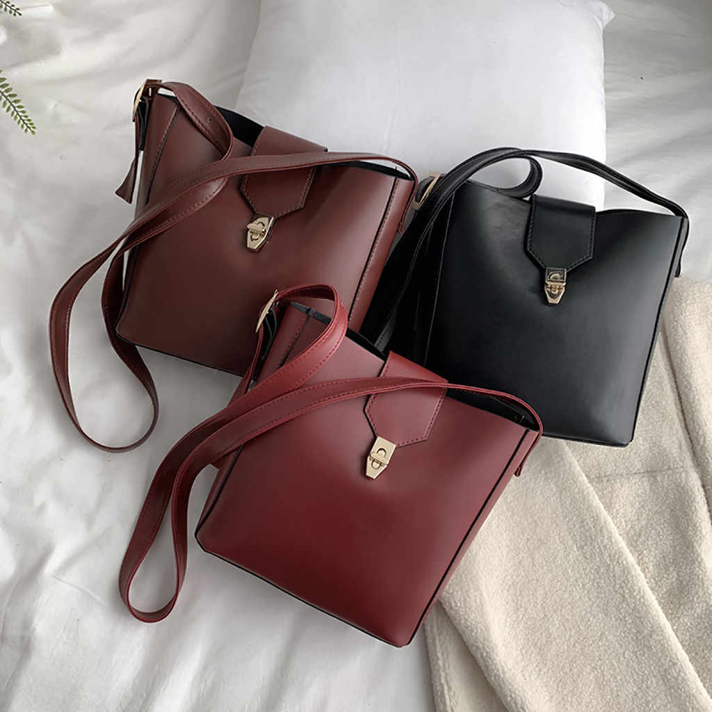 Saco de mulher Grande Capacidade Mobile Messenger Grande Bloqueio Alça de Ombro Balde sacos carteras bolsos de hombro mujer y para as mulheres 2019