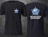CHICAGO POLICE DEPARTMENT T Shirt Men Two Sides 100 Cotton Casual Gift Tee USA Size S