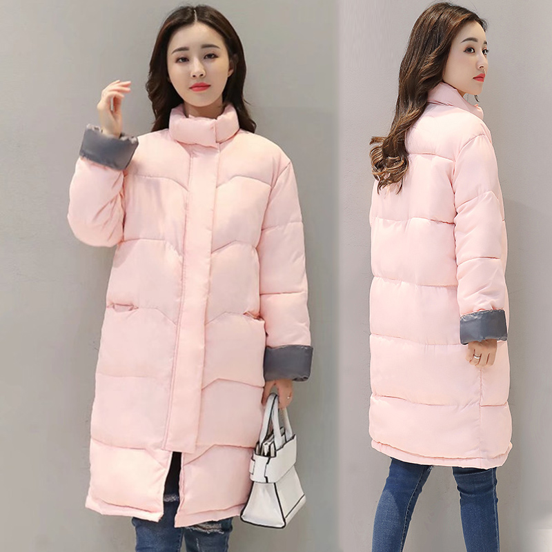 New Women's Jackets   Parkas   mujer 2018 Winter Jacket Women Autumn Warm   Parka   Thick Solid Stand Collar Winter Woman Coat Plus Size